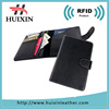 Leather passport wallet with magnetic close RFID design passport wallet