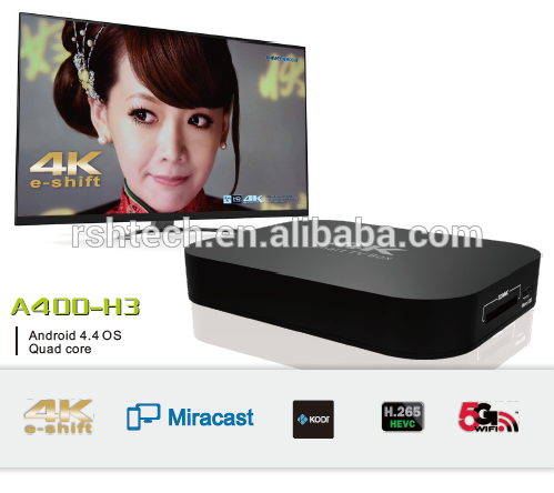 Allwinner H3 Android tv box with 1GB RAM /8GB flash ,preinstall kodi15.2 , WiFi Google streaming player for samrt home kit