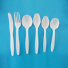 Food grade PP flatware utensils white custom cheap disposable plastic cutlery set