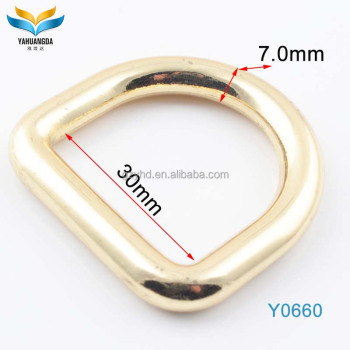 new product zinc alloy metal d ring for bag metal accessories