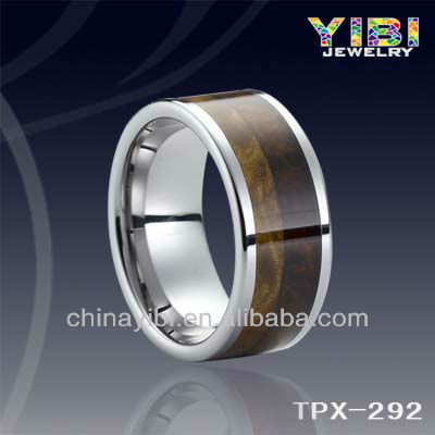 Wood Inlay Tungsten Ring,KOA Wood Tungsten Rings,Tungsten Carbide Wood Ring Fashion Jewelry America