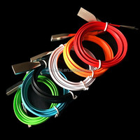 Best quality 1m 2A 3D Zinc Alloy micro 5pin TPE flat noodle usb data sync charger cable for s3