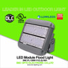 UL DLC Listed 120 Watt LED Outdoor Flood Light with Short / Long Bracket Mounting