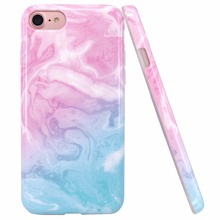 IMD Marble SlimTPU Soft Rubber Cell Silicone Phone Case Cover for Iphone 8