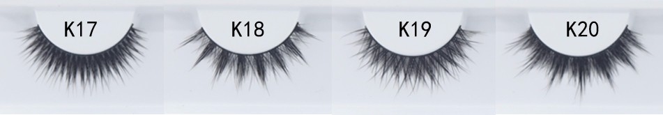 Glossy Siberia Strip False Lashes Real Fur Mink Lashes