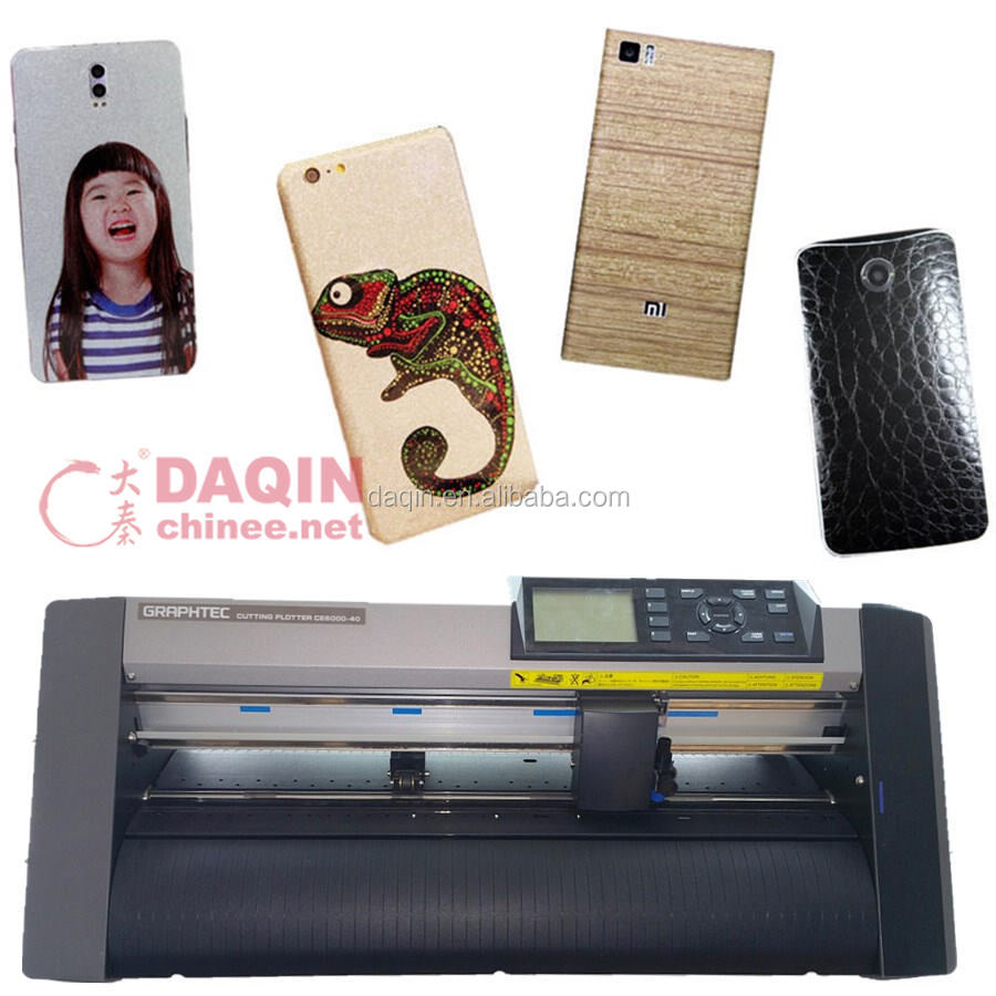 With Daqin 3D mobile sticker design software printer for mobile phone skin