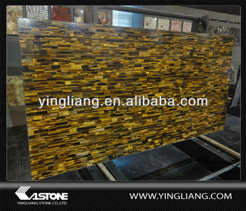 Yellow tiger's eye semiprecious stone
