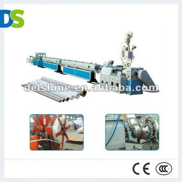DS PIPE- pvc steel wire reinforced hose extrusion line