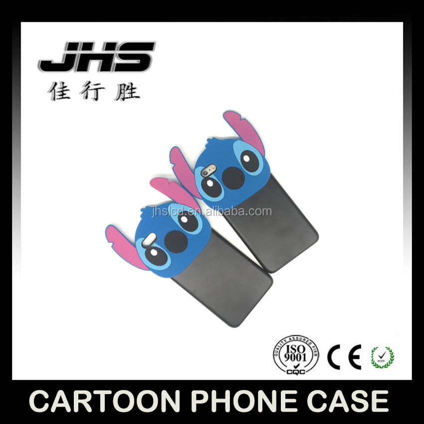 3D Stitch Cartoon Blue Plastic Soft Cover Back Phone Case For iphone 5