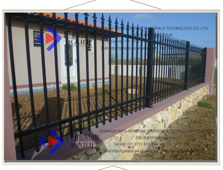 Ornamental Modular Galvanized Steel Fencing