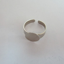 Fashion Design metal stretch ring bases for jewelry findings