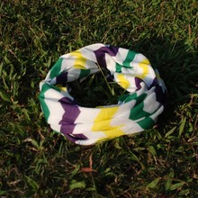 Wholesale ready in stock Blanks Multi Chevron scarves Mardi Gras Kids Scarves with free shipping Via Fedex DOM-103103
