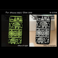 100% PC Hard Back Cover for iphone 4 4s, Light Glow in Dark For Iphone 4 4s Mobile Phone Case