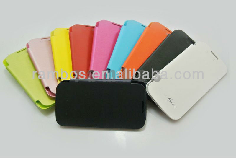 For Samsung Galaxy S4 mini i9190 PU Leather Flip Cover Case Battery Cover