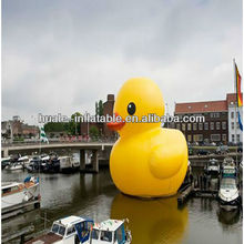 Giant inflatable cartoon character rhubarb duck,inflatable super/rhubarb duck
