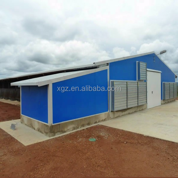 Cheap Advanced Automatic Equipment Prefab Automatic Building Poultry House