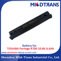 Laptop spare parts replacement battery for TOSHIBA Portege R700 10.8V 6.6Ah