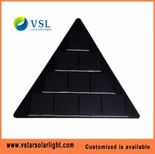 125*125mm Triangle type monocrystalline 5V 1W PET solar panel for lamps