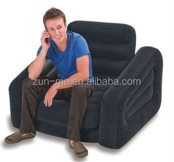 Inflatable multi-function folding sofa chair sofa bed with flocking
