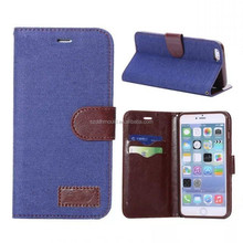 hot selling back cover canvas leather wallets phone case for iphone6