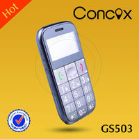 cdma senior phone GS503 with SOS emergency call/electric torch