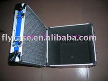 2012 new design Aluminum zip instrument case with logo print and strong handle