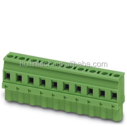 Female plug terminal block 7.62mm pitch the wiring opening wave pattern side