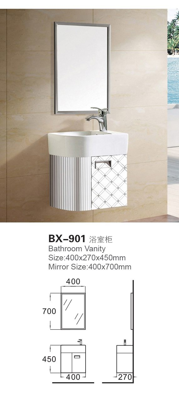 BX-901 living room furniture bath vanity base with basin mirror