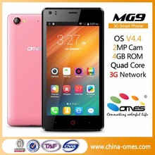 "Factory Wholesale MG9 4.5"" 4.5 inch dual sim cards android 4.4 kitkat 3G cheapest china cell phone"