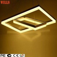 Commercial luxury LED light square acrylic chandelier with CE/VDE/UL