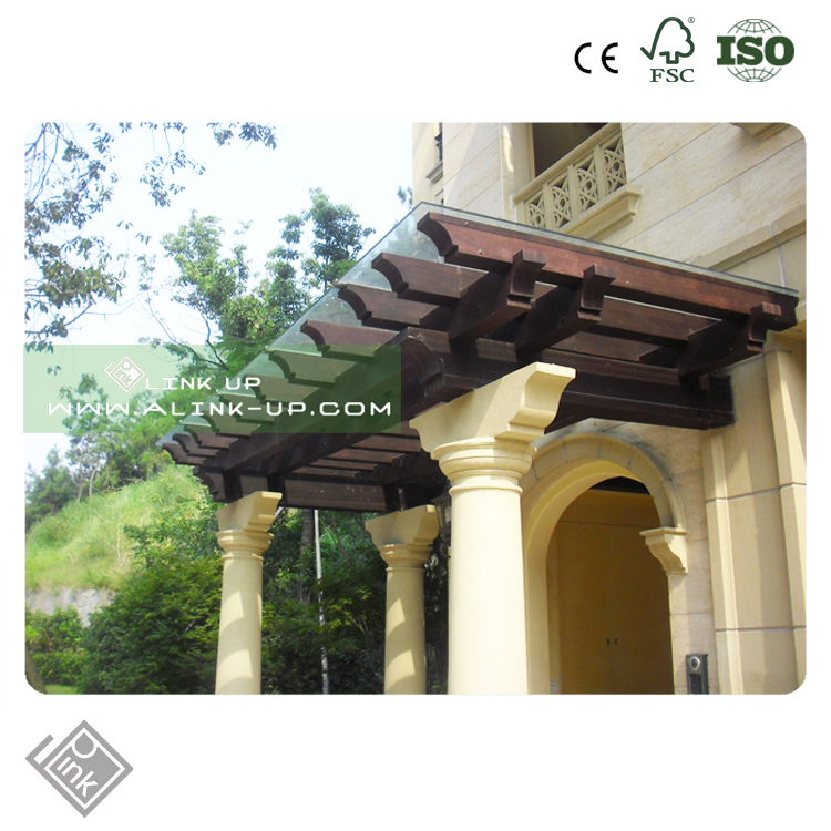 Outdoor shadow Anti UV easy to assemble waterproof glass pergola