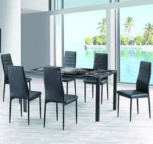 Philippine dinning hideaway dining table and chair set dining room furniture, dinner table set 6 chairs