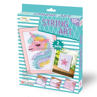 DIY Crafts Unicorn and Star Shape String Art
