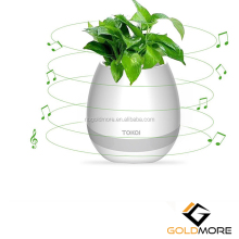 Rechargeable Smart Music Wireless Flowerpot Touch Plant Lamp Night Light Bluetooth Speaker