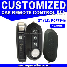Hot Sale 3 Buttons 433MHz PCF7946 Flip Remote Key For Fiat Auto Key MTF-102642