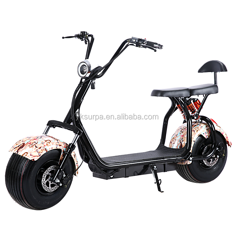 18*9.5inch 60v 800w1000w popular <strong>city</strong> 2 wheels citycoco electric scooter/electric fat bike/snow bike