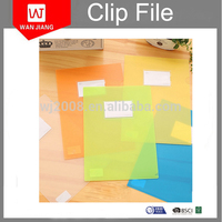 Promotional High Quality PP plastic file folder A4 L shape file folder with best price