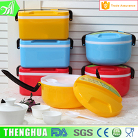 kids school plastic PP biodegradable round lunch box