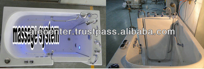 portable walk in bahtub portable bathtub for adults elderly walk in bathtub best bathtub supplier in China