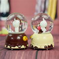 Crystal ball shape music box for Christmas gift item