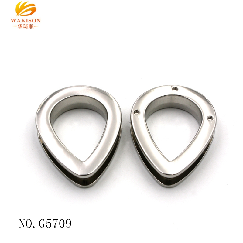 High Quality Heart Shape Nickel Silver finish Charm Big Strong Metal Eyelet