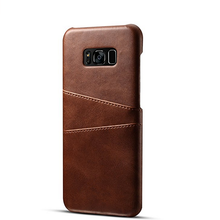Genuine Leather Wallet Phone Case, Slim Leather Back Case Cover With Credit Card Holder for Men Women