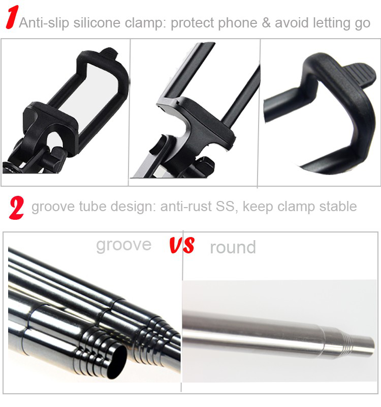 extendable wireless bluetooth Selfie Stick for wholesale