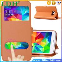 S5 Case Smart Function Window View Flip Leather Case Back Cover For Samsung Galaxy S5 I9600 Capa Wallet Stand Phone Bag Sleeve
