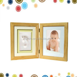 2016 new products adorable baby footprint clay decorative art for wall picture frames