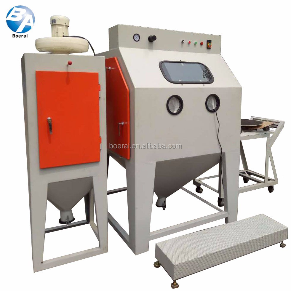 Large Mould Automatic Sandblasting Machine control/Rotary Trolley Table semi Automatic Sandblasting Machine
