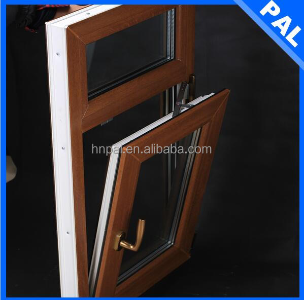 UV resistance brown color casement UPVC PVC double glazed upvc windows prices with sash in UK