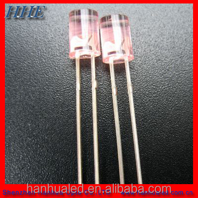 3pins 3mm 5mm round bi-color 5mm flat top led diode supplier