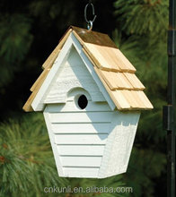 You can draw the color High Quality Small Wooden Cedar Bird Cage / Bird House