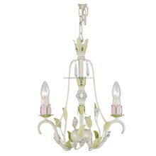 Contemporary wedding lighting family 2 arms small floral hanging chandelier lamps